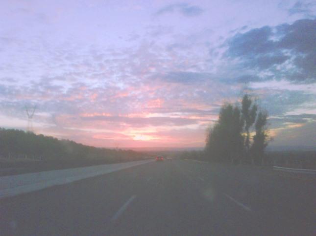 Atarcecer norteño, a la llegada a la ciudad de Durango.